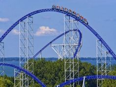 i want to visit Sandusky , Ohio to ride the roller coasters at Cedar point they look so amazing and I know i will have fun I love amusement parks Biggest Roller Coaster, Best Roller Coasters, Roller Coaster Ride, Places To Travel, Places To Go, Amusement Park Rides, Parcs, Plein Air, Sandusky Ohio