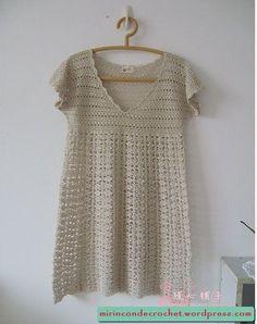 Crochet Tunic - Free Crochet Diagram - (mirincondecrochet.wordpress)