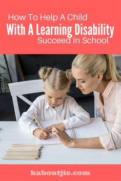 School is hard enough for kids, but when you add a learning disability in things get even more challenging, here are some ways to help a child with a learning disability succeed in school.   #learningdisability #learningdisabilites #succeedwithlearningdisabilities #succeedinschoolwithlearningdisabilities