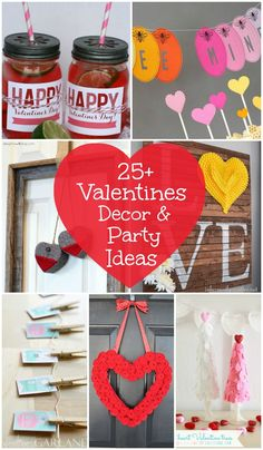 25+ Valentines Decor & Party Ideas on { lilluna.com } !!