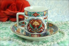 Beautiful Vintage Porcelain Demitasse / Mini by HappyGalsVintage