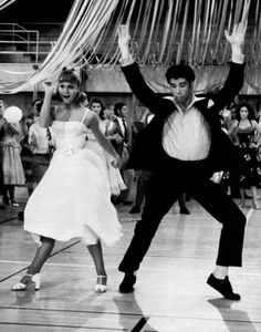 "John Travolta y Olivia Newton John en ""Grease"", 1978"