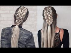 Five Strand Dutch Braid - How to DIY # 5 strand dutch Braids Beautiful Five Strand Dutch Braid Tutorial - How to DIY African Braids Hairstyles, Braided Hairstyles Tutorials, Diy Hairstyles, Dutch Braid Tutorials, Hairstyles Videos, Ponytail Hairstyles, Natural Hairstyles, Haircuts, Braid Styles