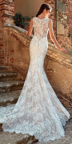 30 Revealing New Wedding Dresses 2019 ❤️ wedding dresses 2019 sleeveless fit and flare sheer lace backless eddy k ❤️ See more: http://www.weddingforward.com/wedding-dresses-2019/ #weddingforward #wedding #bride #weddingdresses2019 #bridalgown