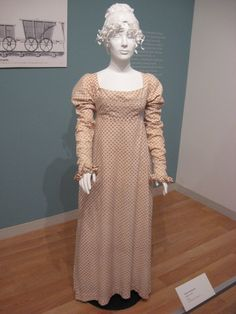 2012-08-25 KSMF -  English printed cotton day dress, circa 1810.