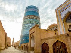 Khiva Travel Guide leads you through major highlights of the stunning city in Uzbekistan, revealing its rich Silk Road history in Central Asia Easy Jet, Top Place, Silk Road, Central Asia, Travel Information, Places To See, Tourism, Travel Photography, Tower