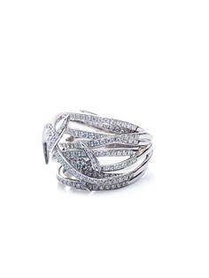 STEPHEN WEBSTER  Diamond and white gold barbed wire ring