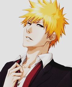 Sexy Ichigo... *swoon* It's kinda strange. I almost NEVER fangirl over the main male protangonist of a shounen... it's usually a supporting character. But Ichigo is just so... ugh! Well done, Kubo. Well done.