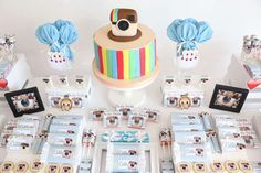 You have to see this Instagram birthday party! See more party ideas at CatchMyParty.com!