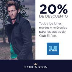 ¡Si sos socio de El Club de El País, seguí disfrutando de un 20% de descuento todos los lunes, martes y miércoles en Harrington!