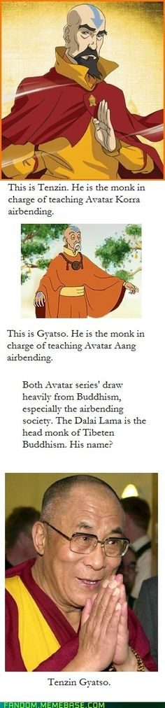 You know, I always wondered where Tenzin's name came from!