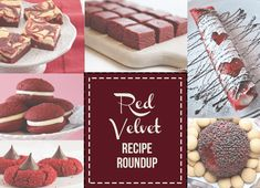 Bring out the red food coloring and try one of these delicious red velvet recipes for crepes, fudge, and cookies! Red Velvet Fudge, Red Velvet Whoopie Pies, Just Desserts, Dessert Recipes, Sweet Desserts, Red Velvet Recipes, Layer Cake Recipes, Love Food, Sweet Recipes