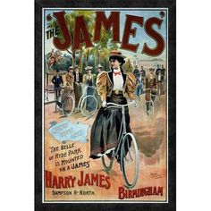 Global Gallery 'The 'James' Bicycle' by G. Moore Framed Vintage Advertisement Size: