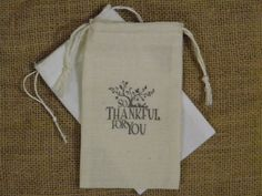 Hey, I found this really awesome Etsy listing at https://www.etsy.com/listing/152709382/6-thanksgiving-favor-bags-muslin-3-x-5