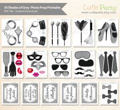 50 Shades of Grey Theme Party Photo Booth Prop 50 by Cutieparty