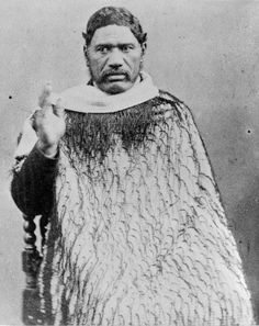 Te Ua Haumene, 1860s who founded the Hauhau Church. Unknown photographer.
