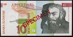 Slovenia 10 tolarjev 10 tolarjev Slovenian banknotes 10 tolarjev 1992 Series, issued by the Bank of Slovenia (Banka Slovenije) Sl. Euro Coins, Money, World, Image, Banknote, Shakespeare, Florence, Oregon, Pasta