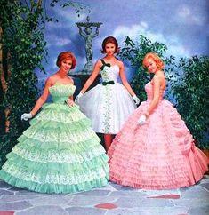 50s Prom Dresses, 1950s Prom Dress, 1960s Dresses, Vintage Prom, Vintage Gowns, Vintage Bridal, Vintage Outfits, Vintage Clothing, Vintage Hats