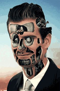 O sérvio Milos Rajkovic hipnotiza com suas imagens que unem máquinas e anatomia em um movimento surreal.