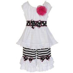 100% cotton stripes and dots outfit www.facebook.com/periwinkleprincessboutique