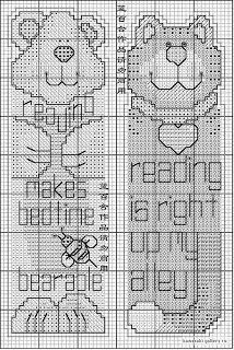 Mire bordados: julio 2012 Diy Bookmarks, Cross Stitch Bookmarks, Cute Cross Stitch, Cross Stitch Animals, Cross Stitch Charts, Cross Stitch Patterns, Everything Cross Stitch, Book Markers, Creative Embroidery