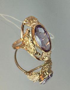 Vintage Original Soviet Rose Gold Alexandrite Ring 583 14K   Etsy