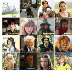 "Myers-Briggs personality typing of the characters in ""The Chronicles of Narnia"" by C.S. Lewis."