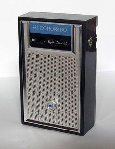 "Vintage Coronado ""Frolic"" 8-Transistor Radio, Model RA60-9930B, Sold by Gamble-Skogmo, Made in Japan."