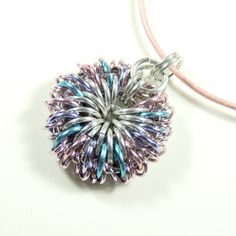 Attention Getter Shiny #PastelPendant Bursting with Joy #LeatherCord by Lehane #group2020