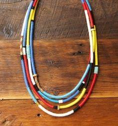 Multi strand rope necklace DIY.