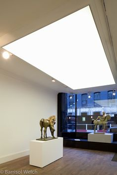 Barrisol Light Box by Barrisol Welch for the John Martin Gallery Soho london -stretch fabric