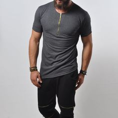 Camiseta-Masculina-Com-Ziper-Basico-Slim-Fit-Street-Fashion-Design-assimetricos-Camisa-885