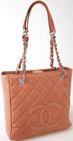 Heritage Vintage: Chanel Blush Quilted Caviar Leather PST Petite  Shopper Tote Bag