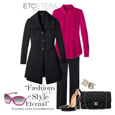 """""""Etcetera Holiday 2015: Spade Jacket, Cabochon Blouse, Hutton Pant"""" by timirac on Polyvore featuring Tom Ford, Etcetera, Chanel and Christian Louboutin"""