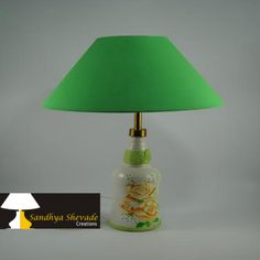 Unique crafted Green color Lampshades. A way away from the cheap imported stuff choking the shops lampshade designs ,table lamp for more information about product please visit our website:www.sandhyashevadecreations.com