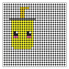 Kawaii Soda Perler Bead Pattern / Bead Sprite