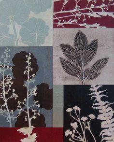 June '10 Workshop: monotype collage Collage Illustration, Collage Art, Collages, Nature Prints, Art Prints, Gelli Arts, Art Brut, Graffiti Wall, Gravure