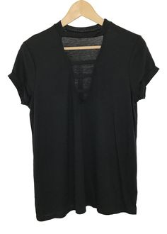 cora strappy deep V-neck top (black)