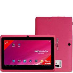 """MioMundo Tablet Android Q07+ Dual. Allwinner A23 Dual Core Cortex A8 de 1,2Ghz. RAM 512Mb. ROM 1Gb. Pantalla 7"""" Capacitiva Multitáctil. Resolución 800x 432. Android 4.2. Color Rosa. Regalo de lámina protectora de pantalla, puntero y funda de color rosa palo. B00HJSIFWQ - http://www.comprartabletas.es/miomundo-tablet-android-q07-dual-allwinner-a23-dual-core-cortex-a8-de-12ghz-ram-512mb-rom-1gb-pantalla-7-capacitiva-multitactil-resolucion-800x-432-android-4-2-color-rosa-rega"""