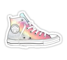 rainbow high tops Sticker