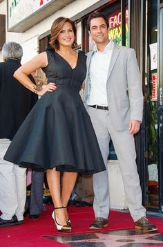 I'm liking the heels Mariska wears in this photo. They are Lanvin croc stamped cap toe pumps.