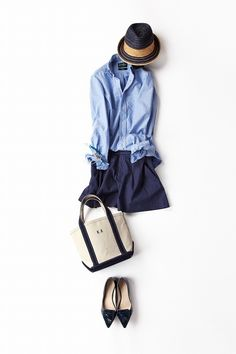 Kyoko Kikuchi's Closet | かさねる青のコーデ