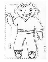 photo relating to Flat Stanley Printable Templates identify flat stanley coloring webpage Coloring Web pages