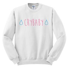 cry baby sweatshirt | how to style a graphic sweatshirt | sweatshirt outfit ideas | All sales are final so please choose your size carefully :)  100% Cotton   Sizes:  Small Medium Large X-Large   Shipping:  Free 2-3 Day Shipping to USA http://melonkiss.com/product/cry-baby-sweatshirt/
