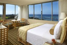 Queen Kapiolani's Ocean View Guestroom - fit for a Queen! #Hawaii #Waikiki #AquaHotels