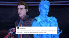 Handsome Jack and Rhys + text post