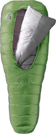 Sierra Designs BackCountry Bed 600fill Down 15F Sleeping Bag: Green Long