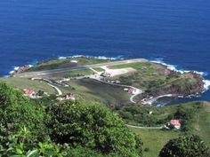 The airport on the Dutch Caribbean island of Saba is considered one of the most dangerous in the world. Picture: Flickr/Richie Diesterheft
