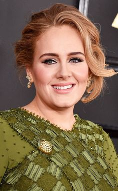 Adele from Best Beauty Looks at the 2017 Grammys  The singer looked sweet as a peach with herfresh pink cheeks and matching lips.