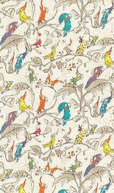 Cockatoos F6050-03 Designer Fabrics and Wallpapers by Sanderson, Harlequin, Morris, Osborne, Little And many more